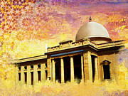 Architecture  Drawings Paintings - Supreme Court Karachi by Catf