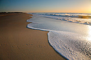 Acrylic Photograph Posters - Surf And Sand Poster by Steven Ainsworth