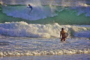 Ocean Art Photos Originals - Surf Art 3 by Heng Tan