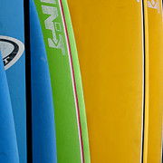 Blue Green Wave Photos - Surf Boards by Art Block Collections