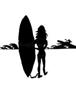 Kate Farrant - Surf Chick silhouette
