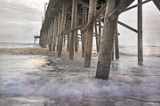 Topsail Prints - Surf City Ocean Pier Print by Betsy A Cutler East Coast Barrier Islands