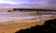 Piers Framed Prints - Surf City Pier Framed Print by Karen Wiles