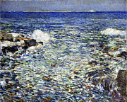 Frederick Digital Art Prints - Surf Print by Frederick Childe Hassam