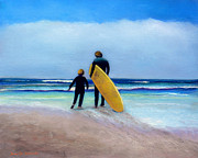 Jennifer Richards - Surf lesson