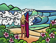 Surfer Girl Paintings - Surf Perspective by Jamie Swim