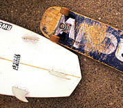 Surf Skate Fins And Wheels Print by Ron Regalado