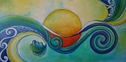 Kiwi Art Prints - Surf Sun Spirit Print by Reina Cottier