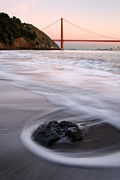 Marin County Originals - Surf Sunset and San Francisco by Jerry Downs