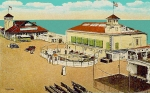 Amusement Parks Paintings - Surf Theatre And Seaview Pavilion At Salisbury Beach Ma 1937 by Dwight Goss