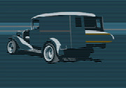 Op Art Digital Art - Surf Truck Ocean Blue by Colin Tresadern