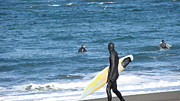 Crosswalk Photos - Surf Waiting by Beverly Guilliams