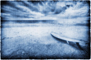 Surf Lifestyle Photo Posters - Surfboard On The Beach Poster by Skip Nall