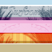 Miami Digital Art Posters - Surfcomber Poster by Chris Lopez Studio
