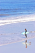 Surf Lifestyle Photos - Surfer Blue by Lifestyle Photos By Tara