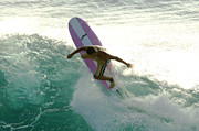 Courage Metal Prints - Surfer Cutting Back Metal Print by Bob Christopher