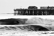 Santa Cruz Pier Framed Prints - Surfer in Motion Framed Print by Paul Topp