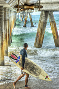 David  Zanzinger - Surfer Under the Pier