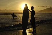 Costa Prints - Surfers Costa Rica Print by Bob Christopher