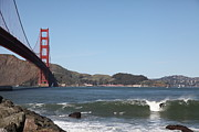 San Francisco Bay Prints - Surfers Near The San Francisco Golden Gate Bridge 5D21658 Print by Wingsdomain Art and Photography