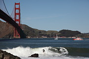 Sports Art - Surfers Near The San Francisco Golden Gate Bridge 5D21664 by Wingsdomain Art and Photography
