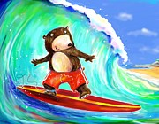 Scott Nelson - Surfing Bear