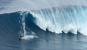 Surf Photography Prints - Surfing Jaws 5 Print by Bob Christopher