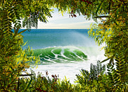 Summer Scene Framed Prints - Surfing Paradise Framed Print by Carlos Caetano