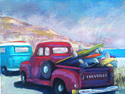 Chevrolet Pastels - Surfing Safari by Sandra Ortega