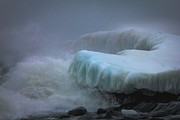 Snowstorm Photos - Surging Sea by Mary Amerman