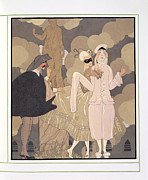 Arte Framed Prints - Surprise Framed Print by Georges Barbier