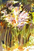 Wonderful Painting Originals - Surprise Lilies II A Portrait by Kip DeVore