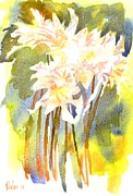 Expressive Floral Prints - Surprise Lilies IV A Portrait Print by Kip DeVore