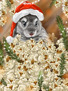 Christmas Digital Art Prints - Surprise Print by Veronica Minozzi
