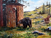 Wyoming Paintings - Surprise Visit by Lee Piper