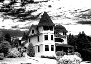 Surreal Infrared Dreamy Landscape Prints - Surreal Black White Mackinac Island Michigan Home Print by Kathy Fornal