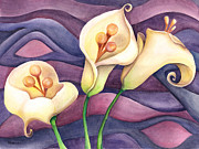 Calla Lily Paintings - Surreal Calla Lilies by Brandi Solomon