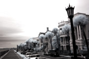 Infrared Art Prints Prints - Surreal Charleston South Carolina Battery Park Print by Kathy Fornal