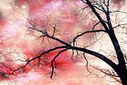 Fantasy Tree Art Print Photo Framed Prints - Surreal Fantasy Gothic Nature and Sky Landscape Framed Print by Kathy Fornal