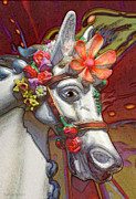 Pier 39 Digital Art - surreal fantasy pony - Flower Power by Sharon Hudson