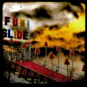 Slide Posters - Surreal Fun Slide Poster by Gothicolors And Crows