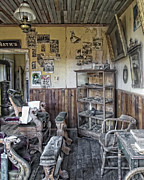 Miners Ghost Photos - Surreal Mens Victorian Barber Shop Interior by Daniel Hagerman