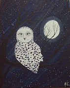 Surrealism Prints - Surreal Owl Print by Megan Cockrell