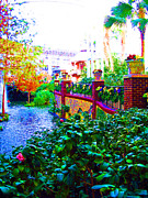 Nashville Tennessee Digital Art Metal Prints - Surreal Scenery Inside the Opryland Hotel in Nashville Tennessee Metal Print by Marian Bell