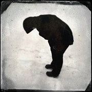 Surrealism Art - Surreal silhouette of a person in the snow by Matthias Hauser