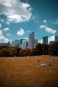 Blanket Prints - Surreal Summer Day in Central Park Print by Amy Cicconi