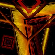 Abstract Brown Posters - Surrealist Geometry with Brightness and shadows Poster by Mario  Perez