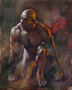 Muscle Mixed Media Metal Prints - Surrender Metal Print by Chris  Lopez
