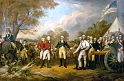 Revolutionary War Paintings - Surrender of General Burgoyne by Pg Reproductions