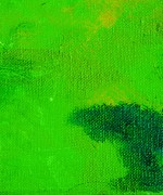 Emerald Green Abstract Paintings - Surrepititous Emerald Green by L J Smith